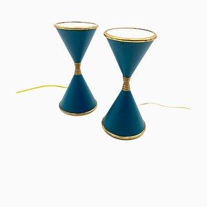 Italienische Clessidra Tischlampen von Angelo Lelli für Arredoluce, 1960er, 2er Set