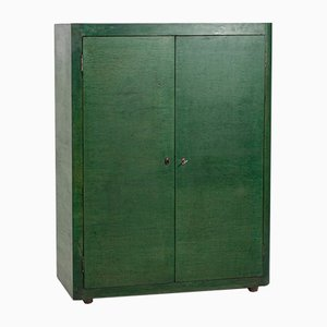 Mid-Century Green Wood Cabinet by Vittorio Valabrega, 1950s