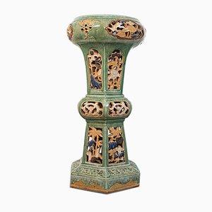 Antique English Ceramic Plant Stand