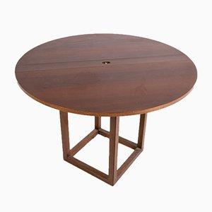 Vintage Walnut Gabbiano Folding Table by Pierluigi Ghianda