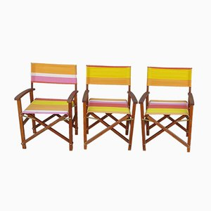 Mid-Century Wooden Side Chairs, Set of 3
