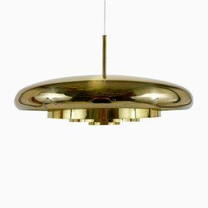 Scandinavian Brass Ceiling Lamp from Bergboms, 1960s