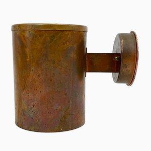Lámpara de pared de exterior sueca de cobre patinado de Falkenbergs Belysning, años 60