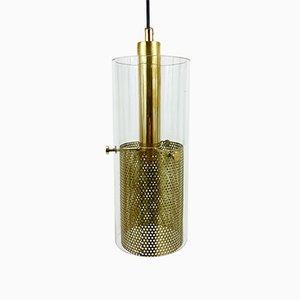 Lámpara de techo de latón y vidrio de Hans-Agne Jakobsson para Hans-Agne Jakobsson AB Markaryd, años 60