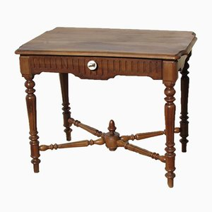 Antique Walnut Writing Table, 1900s