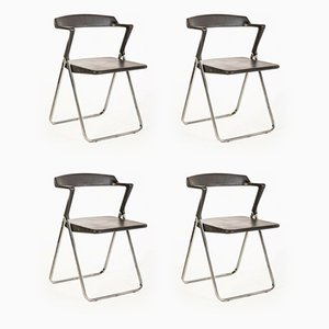 Vintage Metal Folding Dining Chairs from Skipper, 1970s, Set of 4