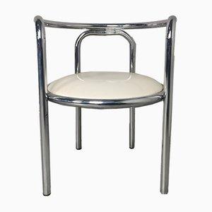 Chaise de Salon Locus Solus en Faux Cuir et Chrome Mid-Century par Gae Aulenti pour Poltronova, 1964
