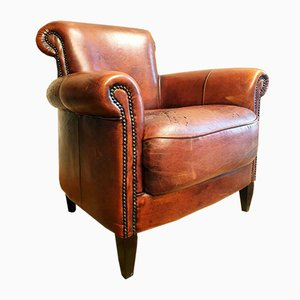 Leather Club Chair, 1950s