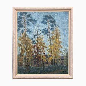 Alexander Gorjatschkin, Landscape, Oil On Canvas