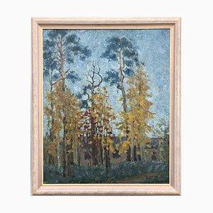 Alexander Gorjatschkin, Landschaft, Öl auf Leinwand