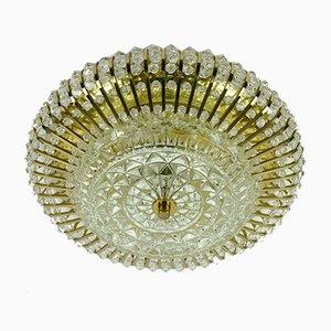 Lampadario Holywood Regency in stile e cristallo di Christoph Palme per Palwa, anni '60