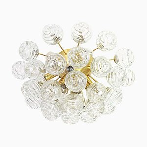 German Glass Snow Balls Sputnik Ceiling Lamp from Doria Leuchten, 1970s