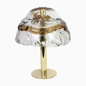 Large Austrian Smoked Murano Glass Table Lamp from Kalmar, 1970s