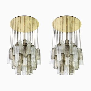 Large Austrian Murano Glass Chandelier by Paolo Venini for Kalmar, 1960s