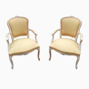 Mid-Century Venetian Style Lounge Chairs, Set of 2