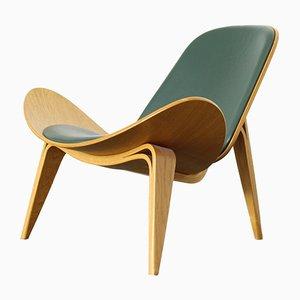 Sedia CH07 in pelle di Hans J. Wegner per Carl Hansen & Søn, anni '60