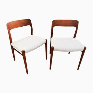 Modell 75 Esszimmerstühle von Niels Otto Møller für JL Møllers, 1960er, 6er Set