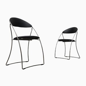 Vintage Italian Postmodern Folding Chairs, Set of 2