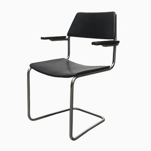 Mid-Century German Freischwinger Cantilever Chair by Walter Papst for Mauser