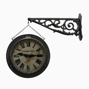 Antique Double Dial Clock from Brillié