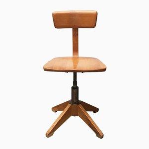 Mid-Century German Wooden Swivel Chair from Sedus
