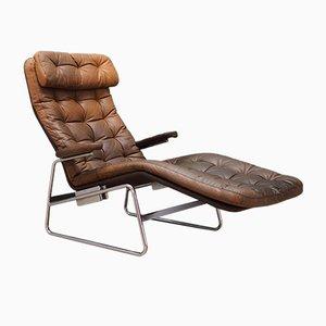Chaise Lounge danés vintage, años 70