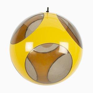 Yellow UFO Ball Pendant Lamp from Massive Lighting, 1970s