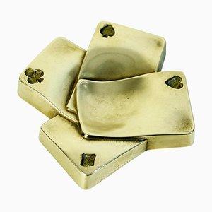Mid-Century Bronze Tablett, Italien