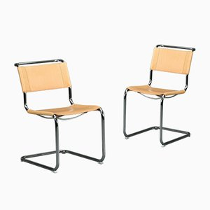 Thonet S33 Chair Bauhaus Leather Chair by Mart Stam