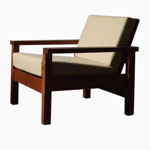 Wooden Lounge Chair, 1940s