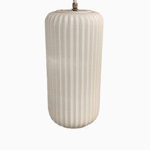 Lampada in stile Arredaluce in vetro opalino, Italia, anni '50