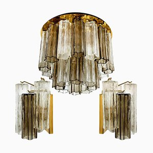 Lampade in vetro di Murano di JT Kalmar, Austria, anni '60, set di 3