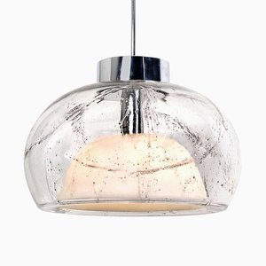 Hand Blown Glass Pendant Light from Doria, Germany, 1970s