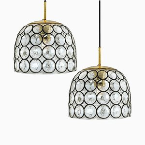 Circle Iron and Bubble Glass Ceiling Lamp from Limburg