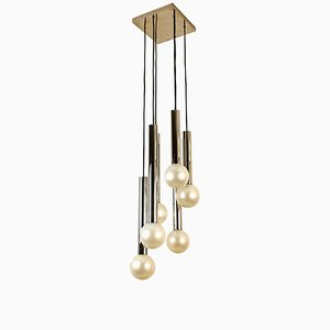 Large Cascade Light with Blown Opaline Glass Balls by Motoko Ishii for Staff