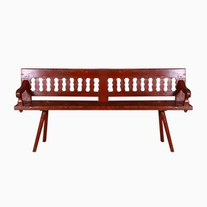 Painted Tryleon Bench, 1820s