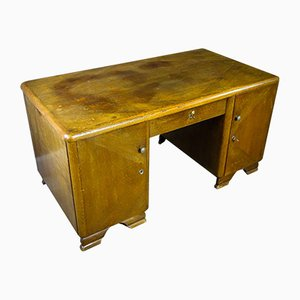 Vintage Brown Oak Desk, 1950s
