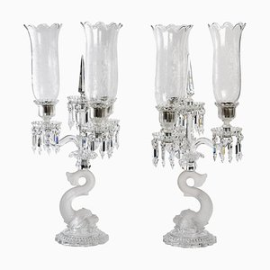 Large Three-Light Candelabras, Set o 2