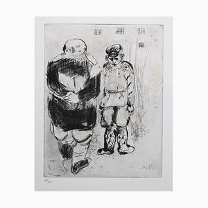 Marc Chagall - The Man Without A Passport Before Captain Ispravnik - Etching