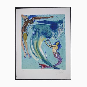 Salvador Dalí - The Little Mermaid I - Lithografie - 1966