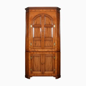 Country House Mahogany Corner Cupboard