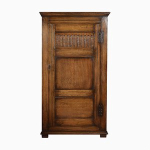 Carved Oak Hall Wardrobe