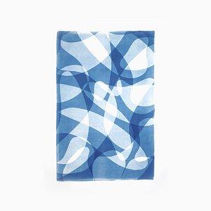 Drapeaux Line Contours In Shade Gradients, Tirages Tons Monotype Bleu, Avant-Garde, 2021