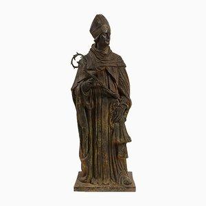 Bronze Skulptur eines Bischofs aus dem 17. Jahrhundert