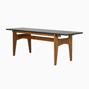 Tavolino da caffè in teak e pietra di Hans-Agne Jakobsson