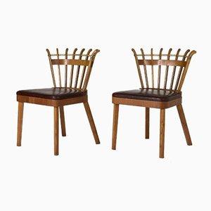 Schwedische Moderne Beistellstühle, 2er Set