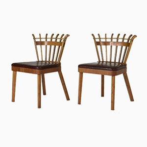 Swedish Modern Occasional Chairs, Set of 2
