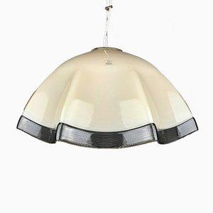 Vintage Beige Murano Glass Pendant Lamp, Italy, 1970s
