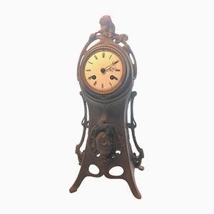 Antique Art Nouveau Mantle Clock by A. Lesueur, 1890s