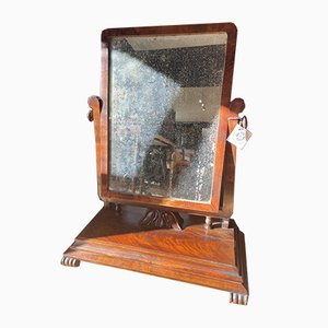 Großer Französischer Mahagoni Spiegel, 1800er